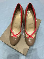 09323abd340 christian louboutin Fifi Nude Pink Patent Leather Kitten Heels shoes  39EUR