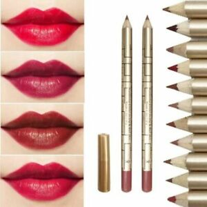 12 Pieces Colour Lipliner Pencil Pen Set Waterproof Cosmetic Makeup Set UK - Ybe