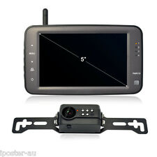 "Digital Wireless 5"" Monitor CCD Camera Reverse Rear View Car Truck Caravan Bus"