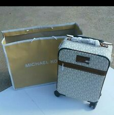 Michael Kors- Travel Trolley Luggage Carry-on suitcase - Vanilla