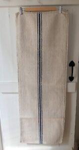 Heavyweight Herringbone European Grainsack Blue Stripe Table Runner FREE POSTAGE