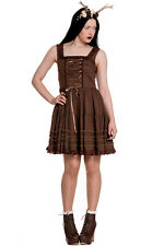 Hell Bunny Vintage Steampunk Enchanted Forest Grace Dress