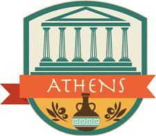 "Athens Greece World City Travel Car Bumper Sticker Decal 5"" x 4"""