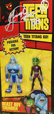 """SIGNED by Beast Boy/Greg Cipes! Teen Titans Beast Boy and Thunder! 3.5"""" Figures!"""