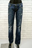 ZU ELEMENTS Jeans Donna Taglia 29 Pantalone Gamba Dritta Pants Woman Cotone