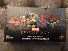 2012 Upper Deck Marvel Beginnings Series 1 I Hobby Box NEW SEALED