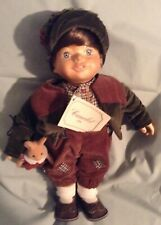 "14"" CAMELOY WOOD & CLOTH DOLL SHORT BROWN HAIR MICHAEL"