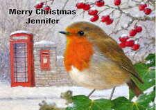 Personalised Robin Christmas Card
