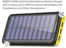AKEEM 24000 mAh Cargador de Batería Externo Portátil con entradas de 2 y 3 Puertos Usb