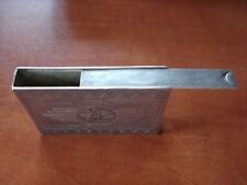 ANTIQUE ENGRAVED SILVER SNUFF/PILL BOX SLIDE LID RARE