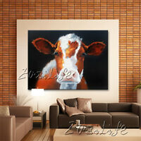 Cow Painting art Farm Animal Original Oil Painting Canvas impasto Wall Art decor
