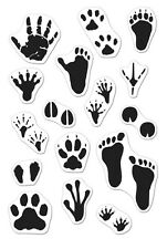Hero Arts Clear Stamps - Animal Prints - Tracking, Tracks, Footprints