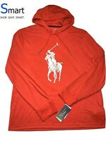 NWT MED MEN Polo Ralph Lauren PERFORMANCE PONY Long Sleeve Light Hoodie Shirt