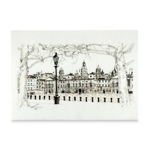 A3 Art Print Poster Horse Guards Parade London Hand Sketched Army Military Art