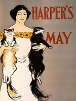 ADVERTISING MAGAZINE COVER CLOTHING FASHION HARPERS ART POSTER PRINT LV949