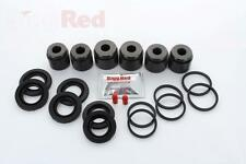 VW Touareg 3.0 V6 Front Brake Caliper Seal Kit +Pistons (6 pot 330mm discs)