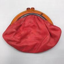Vintage Rot Leder & Lucite Mod Clutch Tasche 594ms 597ms Mv