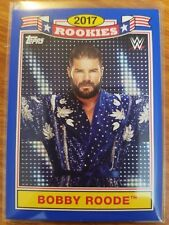 2018 Topps WWE Heritage #TR-3 Bobby Roode Rookies BLUE #d 35/50