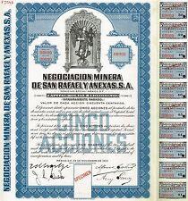 MEXICO SAN RAFAEL MINING COMPANY BOND stock certificate SPECIMEN BOND
