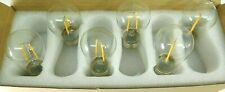 High Efficiency LED Filament Lamp Set of 6 Dimmable E26 Bulbs - NEW
