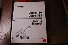 GENIE S80 S85 Boom Lift Service Repair Owner Shop manual 1994 diagnostic book