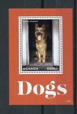 Uganda 2013 MNH Dogs I 4v S/S Pets German Shepherd