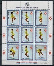 PARAGUAY 1983 Olympiade Olympics Sarajevo Eiskunstlauf 3615 Kleinbogen ** MNH