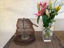Pomax designer Xlarge bronze metal wire designer hurricane lantern