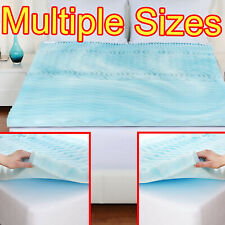 2 Inch Cool Gel Memory Foam Mattress Topper 5 Zones Orthopedic Pad BEST Sleep US