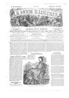 Civil war era MODE ILLUSTREE SEWING PATTERN Aug 2,1868  Summer costumes, blouses