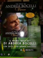 NO CD/LP - ANDREA BOCELLI - cartonato pubblicitario rigido - THE BEST VIVERE -