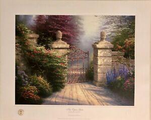 """Thomas Kinkade """"The Open Gate""""  137/3850 W/ COA"""