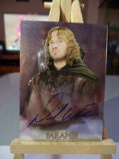 Lord of the Rings Chrome David Wenham as Faramir Autographed Trading Card