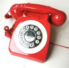 Lovely vintage 1960s style  red rotary telephone