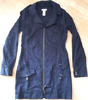 Diesel Jacket Trench Coat Raincoat Black Womens Size XL