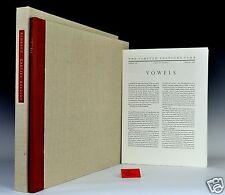 Limited Editions Club. Vowels - Arthur Rimbaud. Henri Cartier-Bresson Signed LEC