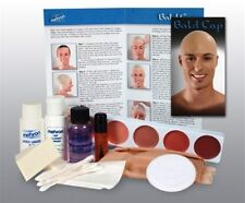 MEHRON PROFESSIONAL BALD CAP COMPLETE MAKEUP KIT SET LIQUID LATEX SPIRIT GUM