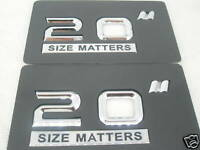 20 Inch Wheel Rim Size Badges (pair)