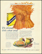 1926 vintage food ad for Wheatena Breakfast whole Wheat Cereal  -122012