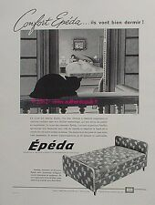 PUBLICITE EPEDA MATELAS SOMMIER CHAT LITERIE DE 1960 PUB FRENCH ADVERT CAT PUB