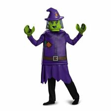Disguise Lego Witch Deluxe Costume, Purple, Large (10-12)