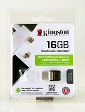 "Pen drive ""Kingston Data Traveler microDuo"" OTG 16gb usb2.0"