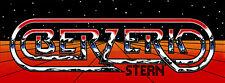 Stern Berzerk Arcade Marquee For Reproduction Header/Backlit Sign