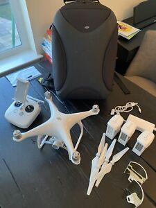 DJI Phantom 4 4K Camera Drone With - DJI Drone Backpack And 3 Batteries