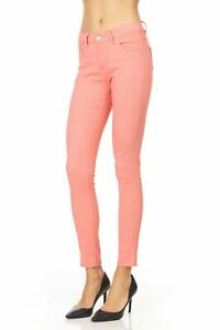 CP18 Women's Flat Front Stretch Twill Pant Slim Fit Skinny Leg