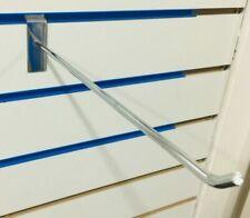 "25 x 12"" SLAT WALL CHROME SLATWALL PRONGS ARM HOOKS RETAIL DISPLAY SHOP FITTINGS"