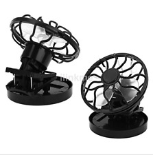 Useful Clip-on Cooling Hat Solar Cell Fan Sun Power Energy Panel Cooler US