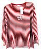 Hegler T-Shirt Oberteil NEU rot weiß gestreift Gr.48/50 Sweetest Angel Longshirt