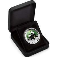Tuvalu 2011 Wildlife in Need #1 Giant Panda Bear $1 Pure Silver Proof with Color