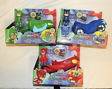 New PJ Masks 3 Pack Cars Figures Catboy Car Owlette Glider Gekko Mobile Disney